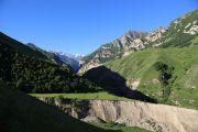 Вид на Чегемское ущелье из Лыбарда