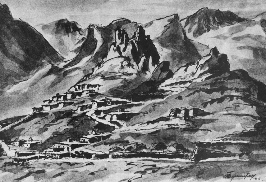 Балкарские поселения 100 лет назад
